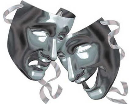 Lifting la máscara para la persona para una noche